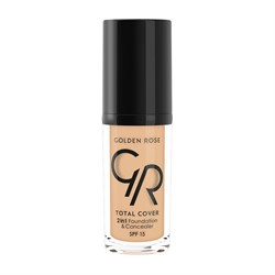 Golden Rose Total Cover 2in1 Foundation Concealer No:03 Almond
