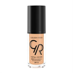 Golden Rose Total Cover 2in1 Foundation Concealer No:7 Natural