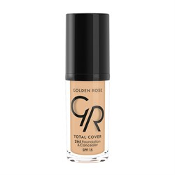 Golden Rose Total Cover 2in1 Foundation&Concealer No:11 Nude