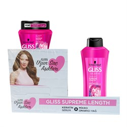 Gliss Supreme Length Şampuan 400ml + Gliss Supreme Length Saç Bakım Maskesi 300ml
